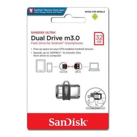 Sundisk Dual Drive 32GB sandisk ultra dual 32gb usb 3 0 otg pen drive 500x500 1