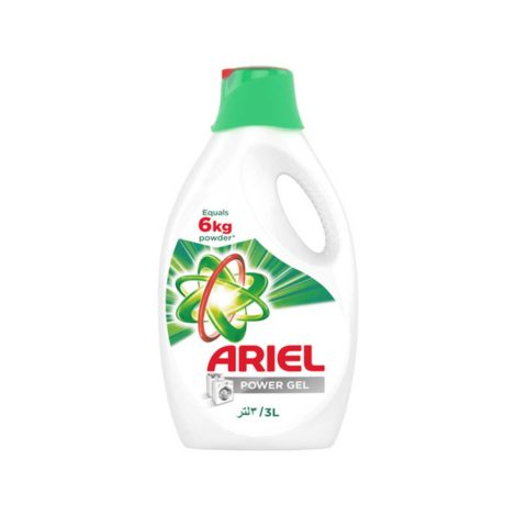 Ariel Detergent Power Gel Liquid 3Ltr