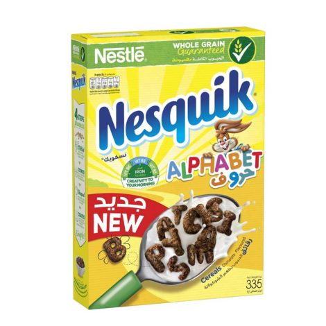 Nestle Nesquik Chocolate Breakfast Cereal Nestle® Nesquik Chocolate Alphabets Breakfast Cereal