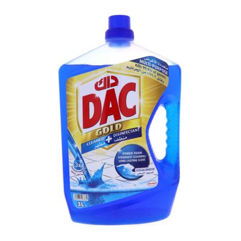 Dac Multi Purpose Super Disinfectant Dac Multi Purpose Disinfectant Ocean Breeze 3Litre