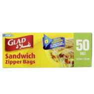 Supperkart Qatar online grocery store Glad Sandwich Zipper Bags 50Pcs