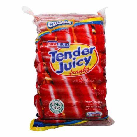 Pure Foods Tender Juicy Franks Pure Foods Tender Juicy Franks Classic 1 Kg