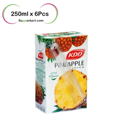 kdd juices kdd Pineapple juice 250mlx6Pcs 1