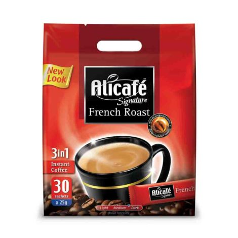 Alicafe Signature French Raost 3 in 1 Instant Coffee Alicafe power root sIGNATURE 30 X 25G