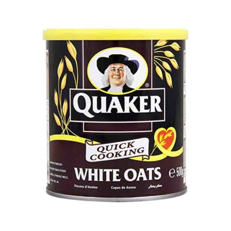 Quaker Alufoil Quick Cooking White Oats 500 tin