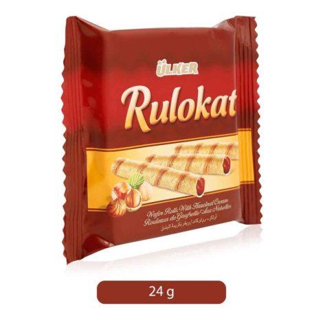 Ulker Rulokat Wafer Rolls With Hazelnut Cream Ulker Rulokat Wafer Rolls With Hazelnut Cream 24g
