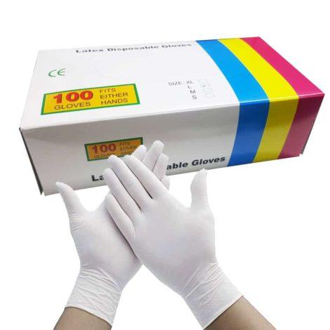 Latex Disposable Gloves Latex Disposable Gloves 100 Pcs Large 1