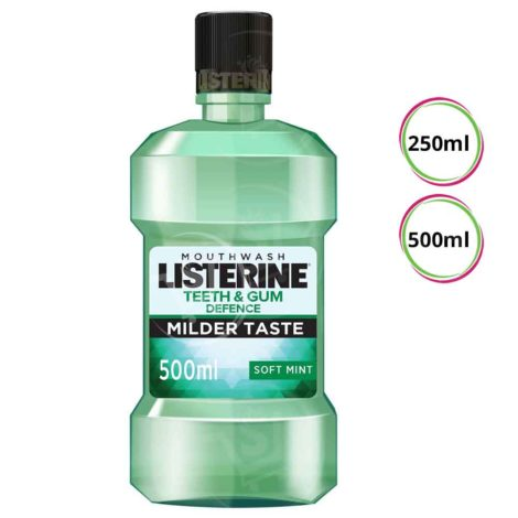 Listerine Mouthwash Listerine Mouthwash Teeth Gum Defence Milder Taste Soft Mint