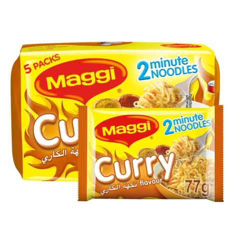 Maggi 2min Noodles Maggi 2 Minutes Noodles Curry 79g x 5 Pieces