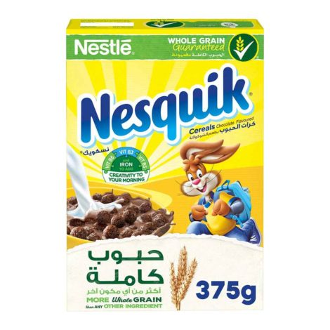 Nestle Nesquik Chocolate Breakfast Cereal Nestle Nesquik Chocolate Breakfast Cereal 375g
