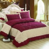 6 Pcs Luxury Intelligent Design King size Comforter Set BUSTON 19-1515