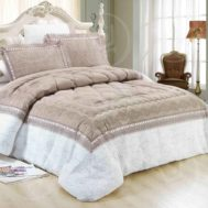6 Pcs Luxury Intelligent Design King size Comforter Set BUSHRA 24-1515