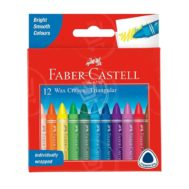 Faber-Castell-Triangular-Wax-Crayons-12Pcs