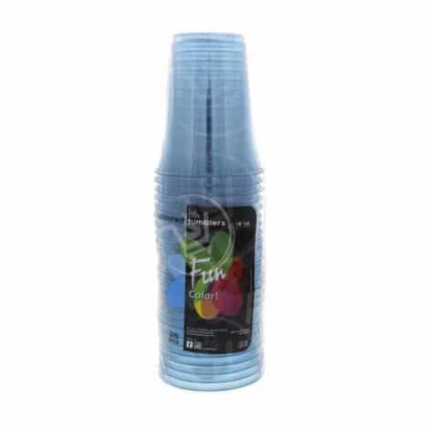 Fun-Coloured-Plastic-Cup-Blue