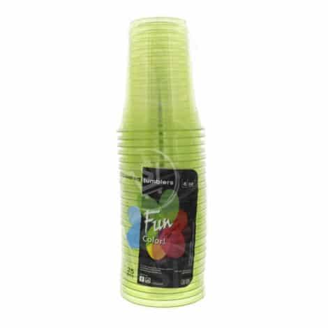 Fun-Coloured-Plastic-Cup-Green
