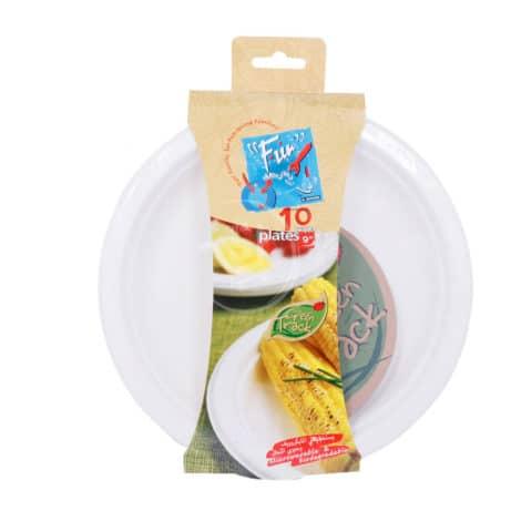 Fun-White-Paper-Plates-9-inch-10Pcs