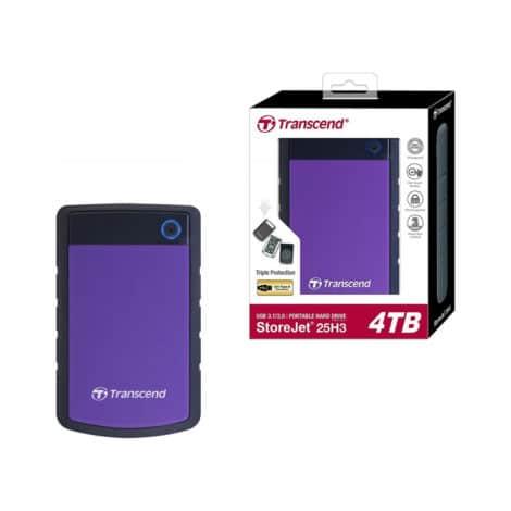 Transcend External Hard Drive StoreJet 25H3 4TB