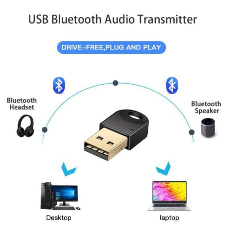 Mini USB Bluetooth Dongle Adapter for Laptop PC Win Xp Win7 8 iPhone 4GS 5GS 17OTC21